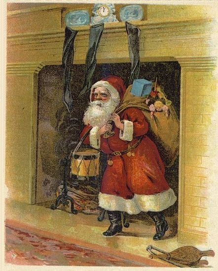 Santa's arrival [Public domain]